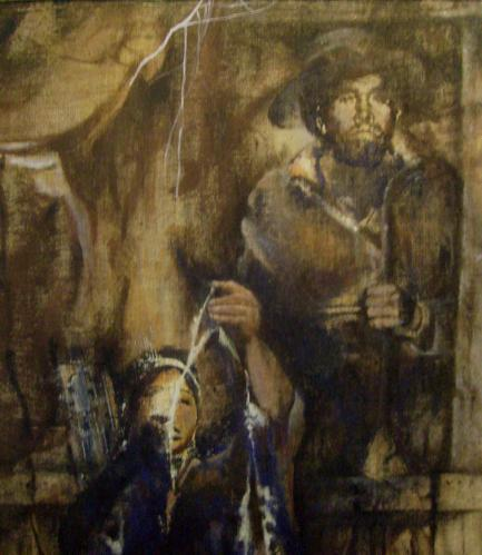 'Tierra de sombras' / Arpillera